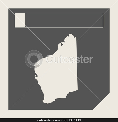 Western Australia map button stock photo, Western Australia map button in responsive flat web design isolated with clipping path. by Martin Crowdy