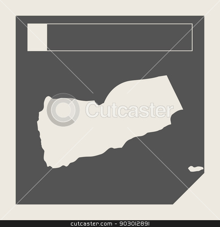 Yemen map button stock photo, Yemen map button in responsive flat web design map button isolated with clipping path. by Martin Crowdy