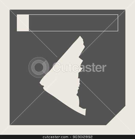 Yukon state in Canada stock photo, Yukon state in Canada responsive flat web design map button isolated with clipping path. by Martin Crowdy