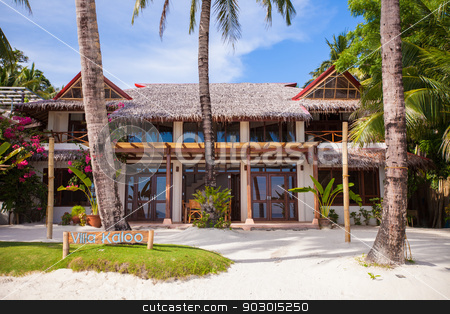 Cozy little hotel on a tropical exotic resort stock photo, Cozy little hotel on a tropical exotic resort by Dmitry Travnikov