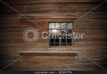 window on old wooden church wall stock photo, window on old wooden church exterior wall by coroiu octavian