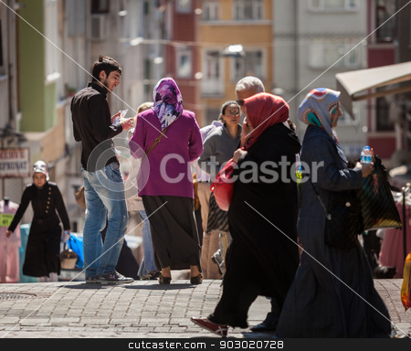 Musim neighborhood of Istanbul stock photo, ANKARA, TURKEY – APRIL 27: Musim neighborhood of Istanbul prior to Anzac Day.  Turkish people remember allies from Australia and New Zealand who fought at the battle of Galipoli during World War I.   by Scott Griessel
