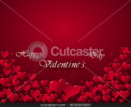 Illustration of hearts for a Valentine's Day stock photo, Illustration of hearts for a Valentine's Day with Happy Valentine's Day by sylwia