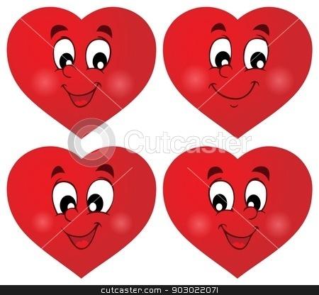 Valentine hearts thematic set 1 stock vector clipart, Valentine hearts thematic set 1 - eps10 vector illustration. by Klara Viskova