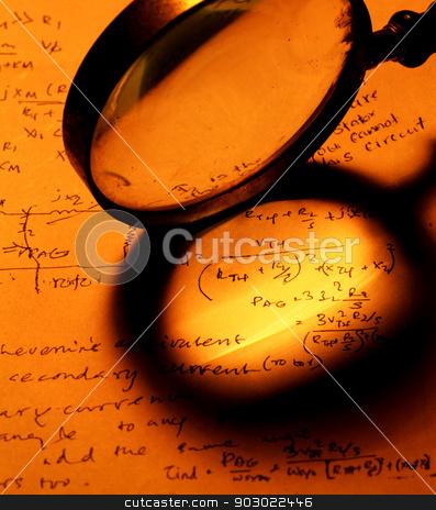 Mathematical Text stock photo, Mathematical background  by Janaka Dharmasena