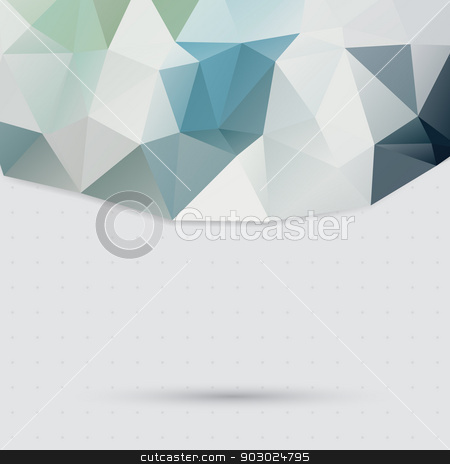 Triangle pattern background stock vector clipart, light color background of three-dimensional object from triangles. under the shadow of the object. place your text top. by LittleCuckoo