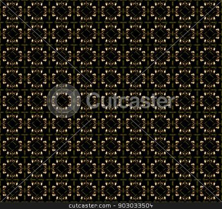 Dark Geometric Shapes Pattern stock photo, Futuristic dark shapes pattern in dark brown tones also useful as background. by Daniel