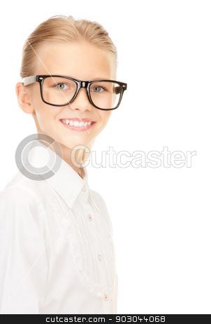 elementary school student  stock photo, bright picture of an elementary school student by Syda Productions