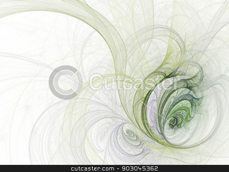 Fractal plant stock photo, Fractal illustration of decorative plant with copy space by Natalia Macheda