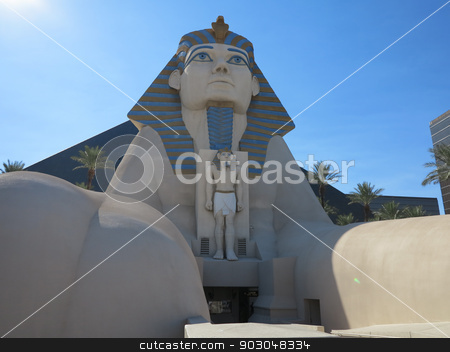 Luxor Sphinx stock photo, The Sphinx of the Luxor in Las Vegas by Lucy Clark