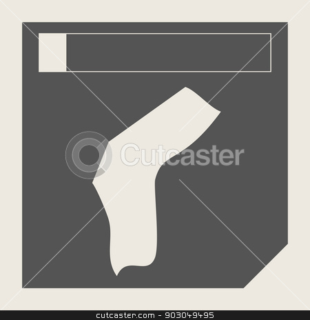 Angola map button stock photo, Angola map button in responsive flat web design map button isolated with clipping path. by Martin Crowdy