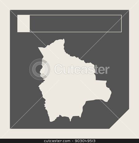 Bolivia map button stock photo, Bolivia map button in responsive flat web design map button isolated with clipping path. by Martin Crowdy