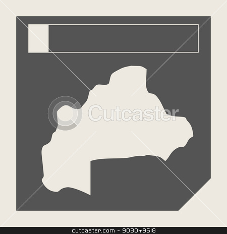 Burkina map button stock photo, Burkina map button in responsive flat web design map button isolated with clipping path. by Martin Crowdy