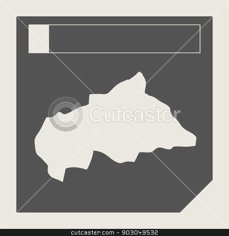 Cental African Republic map button stock photo, Cental African Republic map button in responsive flat web design map button isolated with clipping path. by Martin Crowdy