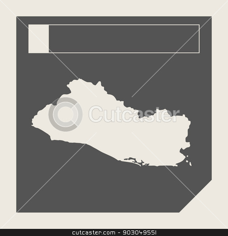 El Salvador map button stock photo, El Salvador map button button in responsive flat web design map button isolated with clipping path. by Martin Crowdy