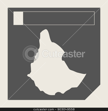 Ethiopia map button stock photo, Ethiopia map button in responsive flat web design map button isolated with clipping path. by Martin Crowdy