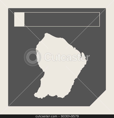 French Guiana map button stock photo, French Guiana map button in responsive flat web design map button isolated with clipping path. by Martin Crowdy