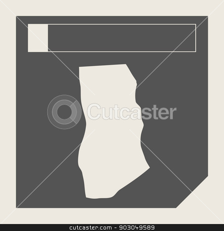 Ghana map button stock photo, Ghana map button in responsive flat web design map button isolated with clipping path. by Martin Crowdy