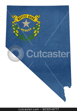 Grunge State of Nevada flag map stock photo, Grunge state of Nevada flag map isolated on a white background, U.S.A. by Martin Crowdy