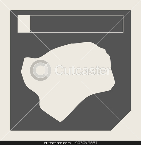 Guinea-Bissau map button stock photo, Guinea-Bissau map button in responsive flat web design map button isolated with clipping path. by Martin Crowdy