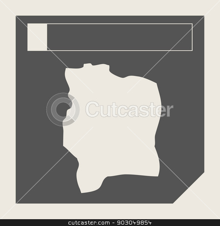 Ivory Coast map button stock photo, Ivory Coast map button in responsive flat web design map button isolated with clipping path. by Martin Crowdy