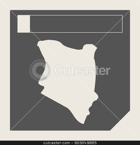 Kenya map button stock photo, Kenya map button in responsive flat web design map button isolated with clipping path. by Martin Crowdy