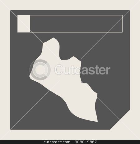 Liberia map button stock photo, Liberia map button in responsive flat web design map button isolated with clipping path. by Martin Crowdy