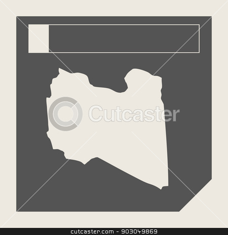 Libya map button stock photo, Libya map button in responsive flat web design map button isolated with clipping path. by Martin Crowdy