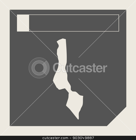 Malawi map button stock photo, Malawi map button in responsive flat web design map button isolated with clipping path. by Martin Crowdy