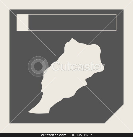 Morocco map button stock photo, Morocco map button in responsive flat web design map button isolated with clipping path. by Martin Crowdy