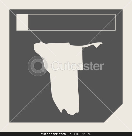 Namibia map button stock photo, Namibia map button in responsive flat web design map button isolated with clipping path. by Martin Crowdy