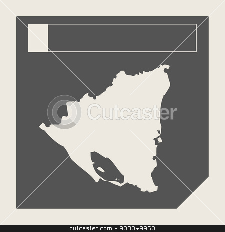 Nicaragua map button stock photo, Nicaragua map button in responsive flat web design map button isolated with clipping path. by Martin Crowdy