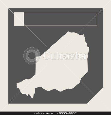 Niger map button stock photo, Niger map button in responsive flat web design map button isolated with clipping path. by Martin Crowdy
