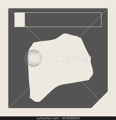 Rwanda map button stock photo, Rwanda map button in responsive flat web design map button isolated with clipping path. by Martin Crowdy