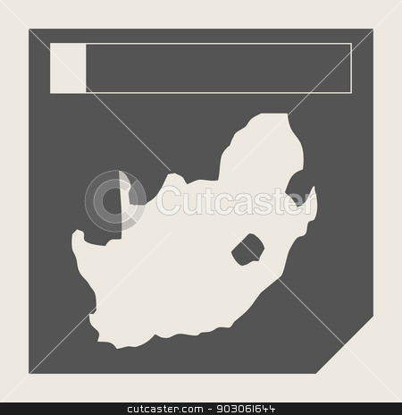 South Africa map button stock photo, South Africa map button in responsive flat web design map button isolated with clipping path. by Martin Crowdy