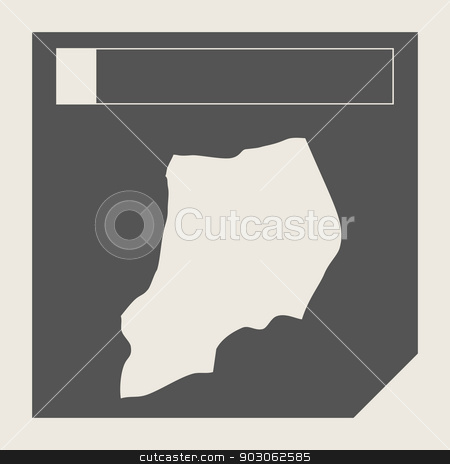 Uganda map button stock photo, Uganda map button in responsive flat web design map button isolated with clipping path. by Martin Crowdy