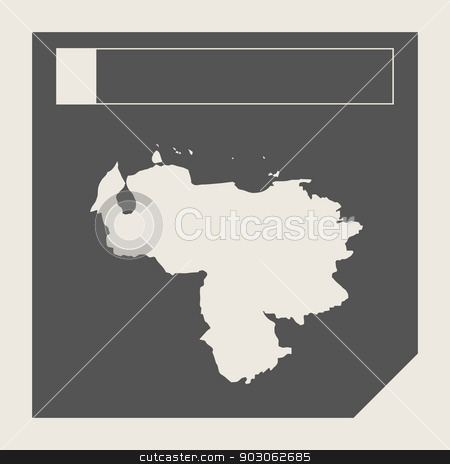 Venezuela map button stock photo, Venezuela map button in responsive flat web design map button isolated with clipping path. by Martin Crowdy