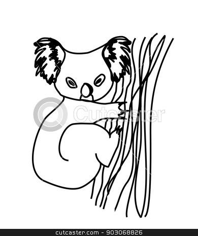 koala cartoon drawing.  stock vector clipart, koala cartoon drawing.  by Jacky Brown