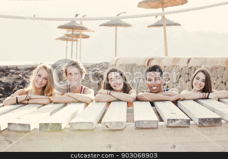 diverse group of summer kids stock photo, diverse group of summer kids by mandygodbehear