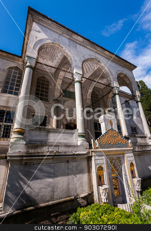 Entry to Library of Sultan Ahmed stock photo, Entry to Neo Classical Library of Sultan Ahmed by Scott Griessel