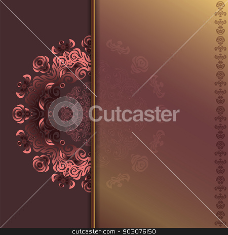 card with abstract roses pattern stock photo, Luxury card with abstract roses pattern. idea for invitations by Heliburcka