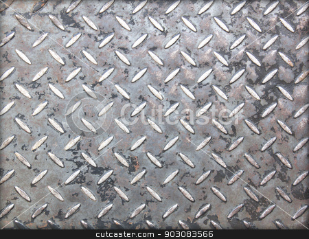 Background of metal plate stock photo, Background of metal plate in black color. by janniwet