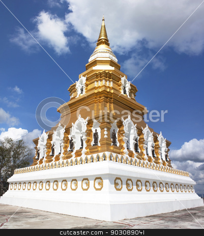 Buddhist religious worship place Wednesday stock photo, Buddhist religious worship place Wednesday, Chiang Rai Thailand. by janniwet
