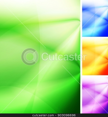 Bright backdrops stock vector clipart, Vibrant abstract background. Four colors. Vector illustration by saicle