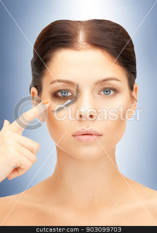 fatigue stock photo, picture of beautiful woman pointing to fatigue by Syda Productions