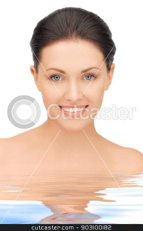 beautiful woman in water stock photo, portrait picture of beautiful woman in water by Syda Productions