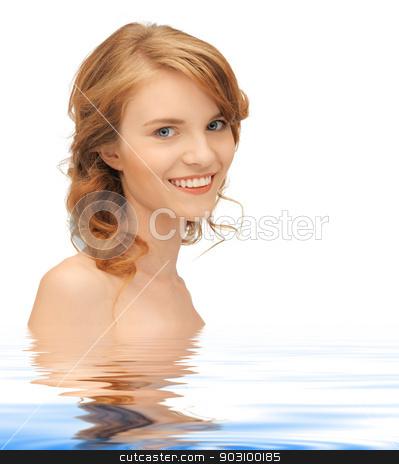beautiful teenage girl stock photo, bright closeup portrait picture of beautiful teenage girl by Syda Productions