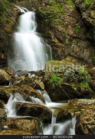 High Waterfall stock photo, awesome Slovakia waterfall in summer by richpav