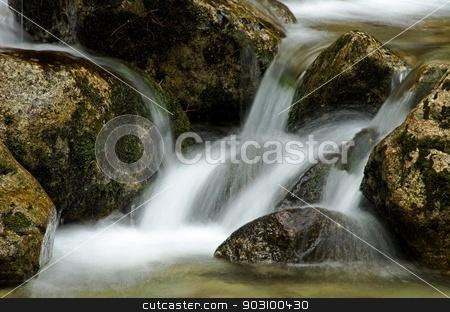 Waterfall stock photo, Waterfall detail / Slovakia by richpav