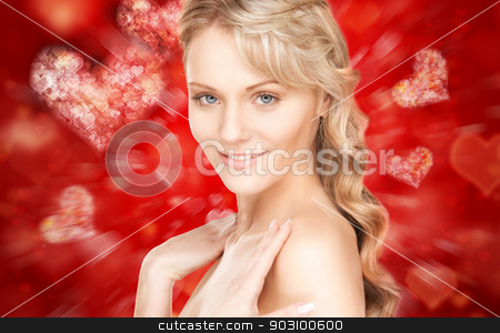 beautiful woman stock photo, bright closeup portrait picture of beautiful woman. by Syda Productions